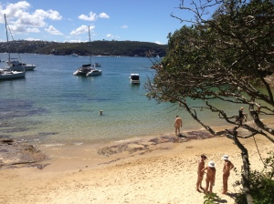 Looking down on Cobblers beach after the Sydney Skinny swim 2013