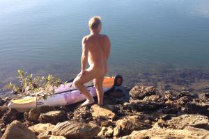 kayaking nude
