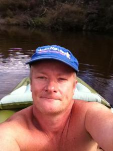 naked canoe selfie
